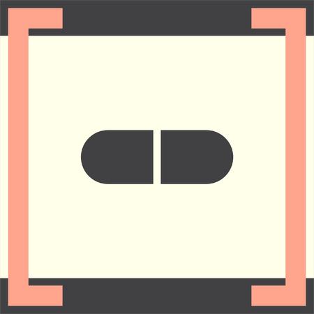 dose: Pill vector icon. Capsule sign. Medicine tablet symbol