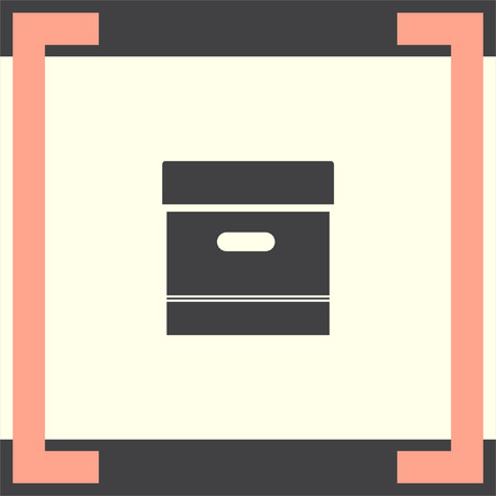 storage box: Archive box sign vector icon. Office symbol. Storage organization sign. Illustration