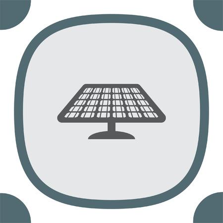 sun energy: Solar energy panel vector icon. Power collector sign. Sun energy concept symbol Illustration