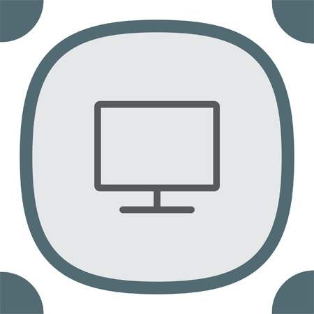 screen display: Monitor vector icon. PC screen icon. Led TV sign. Wide screen display symbol.