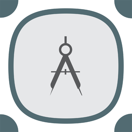 geographic: Divider vector icon. Geographic equipment sign. Researchers tool symbol