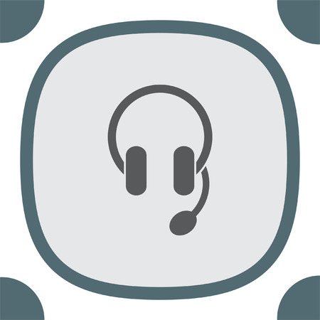 volume control: Headphones or headset vector icon. Music sign. Volume control pictograph. Sound symbol.