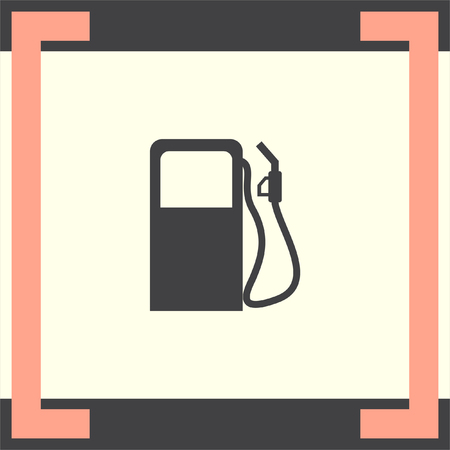 benzine: Gas station vector icon. Pump sign. Petrol fuel symbol Illustration