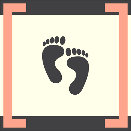 trail sign: Footprint vector icon. Trail sign. Yety symbol Illustration