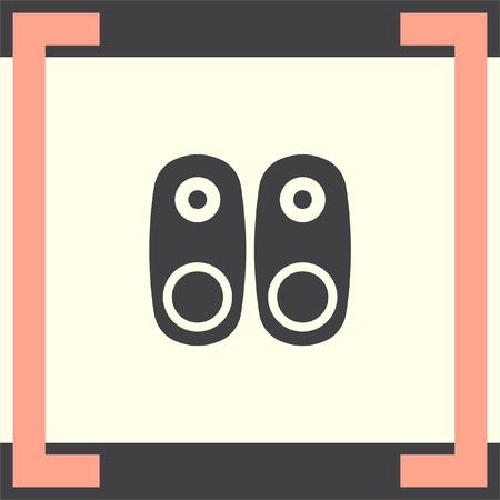 loud speakers: Audio Speakers vector icon. Audio sign. UI control Sound icon. Music symbol.