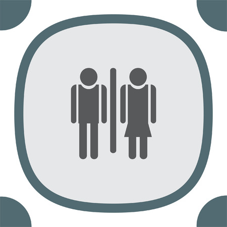 water closet: Man and woman toilet vector icon. Restroom sign. Water closet symbol Illustration