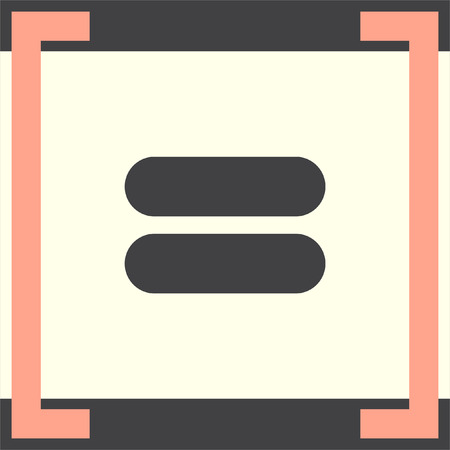 equals: Equal sign vector icon. Equality sign. Mathematical sum symbol