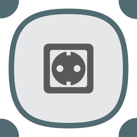 wall plug: Power socket vector icon. Electric outlet sign. Power plug symbol Illustration