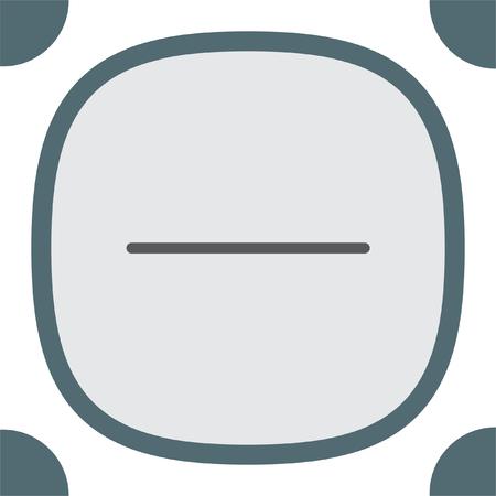 minus sign: Minus sign line vector icon. Negative symbol.