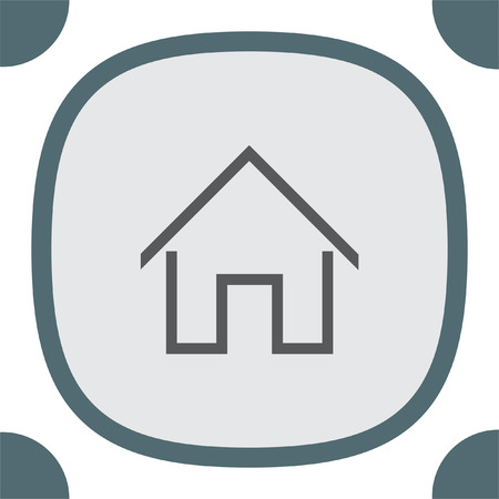 realestate: Home sign line vector icon. House building sign. Real-estate property symbol. Illustration