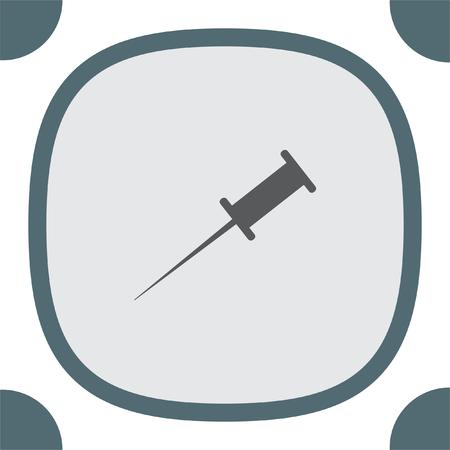 bulletin: Pushpin vector icon. Needle sign. Bulletin board note symbol