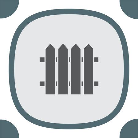 symbol fence: Garden vector icon. Fence sign. Railroad symbol