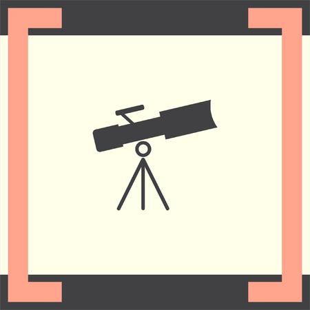 astronomy: Telescope vector icon. Astronomy optical instrument sign. Spyglass symbol