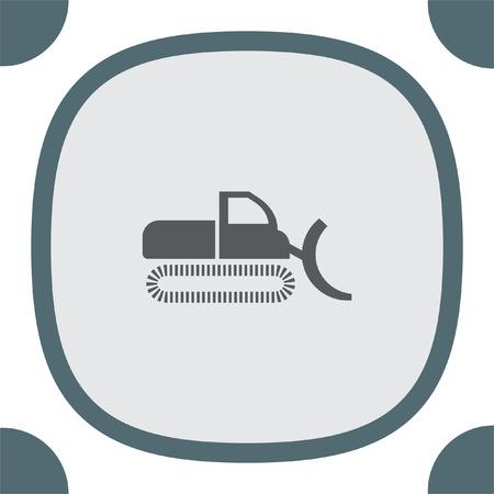 dredge: Dredge symbol vector icon. Bagger sign. Construction vehicle symbol