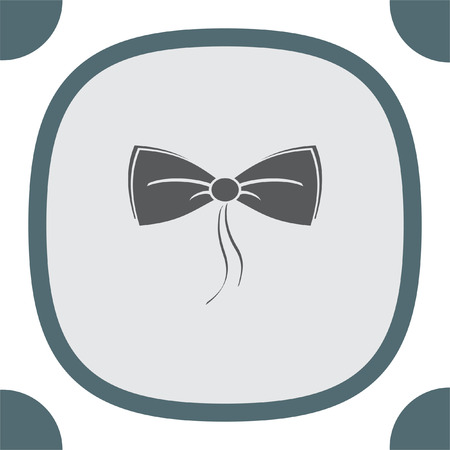 neck wear: Bow Tie vector icon. Man clothing accessory. Elegant style symbol. Illustration
