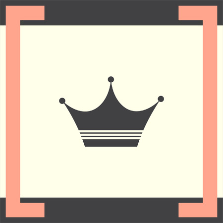 nobility: Crown sign vector icon. Luxury sign icon. Success symbol.