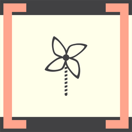 windmill toy: Kid windmill toy vector icon. Child toy sign. Pinwheel symbol