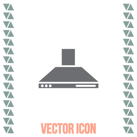 extractor: Kitchen hood vector icon. Cooking equipment sing. Air extractor symbol