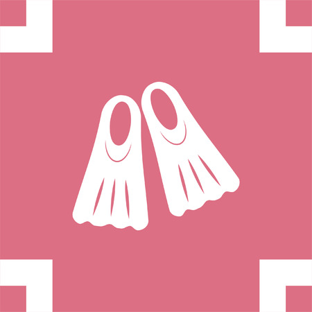 dive: Swimming fins vector icon. Diving gear sign. Underwater and ocean scuba dive symbol