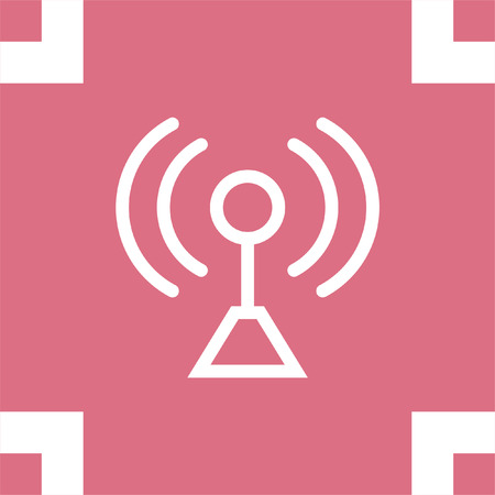 signal strenght: Signal strength sign line vector icon. Wi Fi signal vector icon. Wireless connection symbol. Illustration