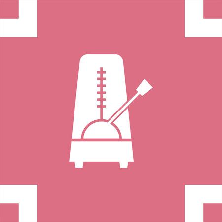 metronome: Metronome vector icon. Rhythm machine sign. Tempo meter symbol Illustration