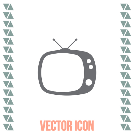 home entertainment: Television symbol vector icon. Tv sign. Display and video screen symbol