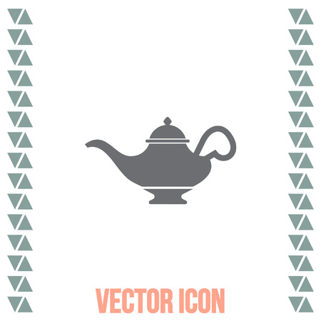 Magic lamp vector icon. Genie sign. Aladdin symbol