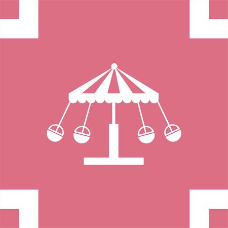 merry go round: Merry go round vector icon. Carousel sign. Circus symbol