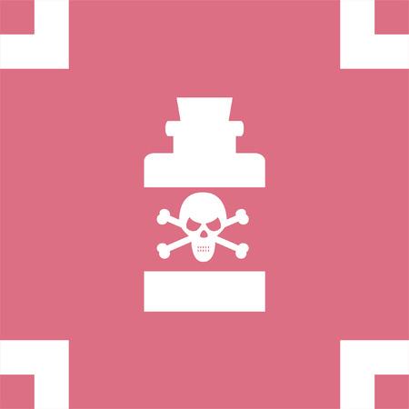 poison sign: Bottle with Poison vector icon. Warning sign. Toxic danger symbol. Illustration