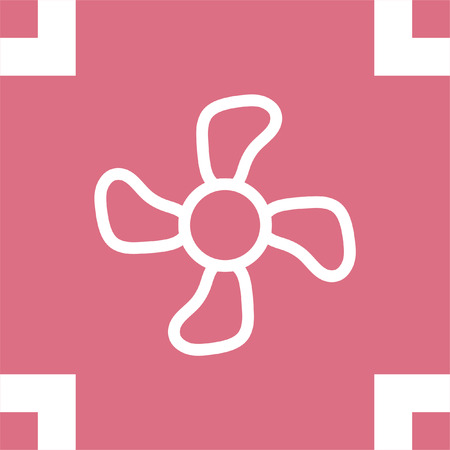 airflow: Fan sign line vector icon. Ventilation icon. Propeller symbol. Illustration