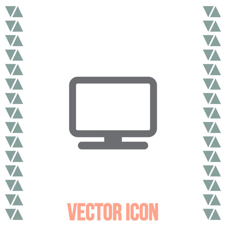 pc monitor: Computer Monitor icon. Pc display sign. Desktop screen symbol. Illustration
