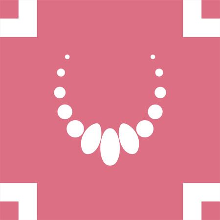 peal: Necklace vector icon. Jewelry sign. Woman elegance pearls symbol Illustration