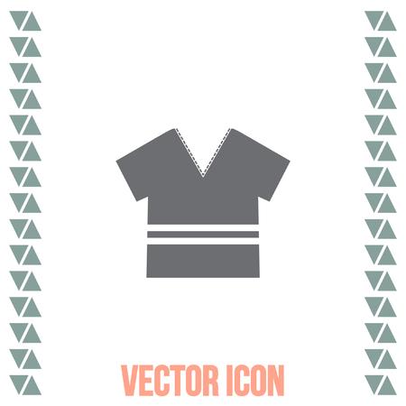 v neck: T Shirt vector icon. Designer apparel sign. V neck symbol