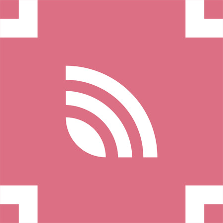 web feed: RSS news feed vector icon. Signal strength sing. Internet symbol