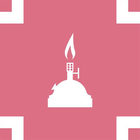 burners: Laboratory burner vector icon. Lab equipment sign. Chemistry tool symbol Illustration