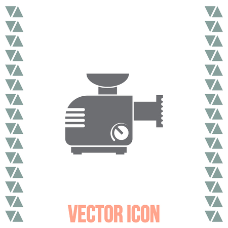 grinder machine: Meat grinder machine vector icon. Manual mincer sign. Butcher tool symbol