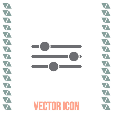 equalizer sliders: Sliders sign vector icon. Settings vector icon. UI control media sound symbol. Illustration