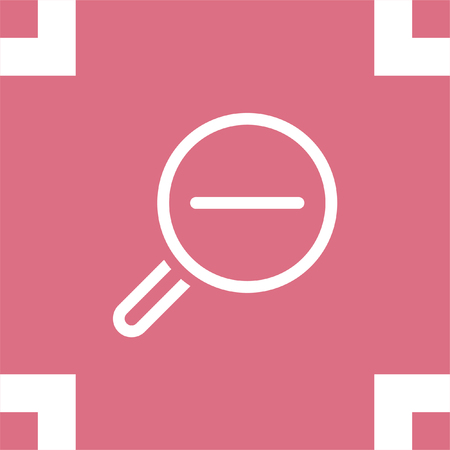 Zoom indietro icona linea segno vettoriale. Magnifying icona della lente di vettore. Icona di ricerca.