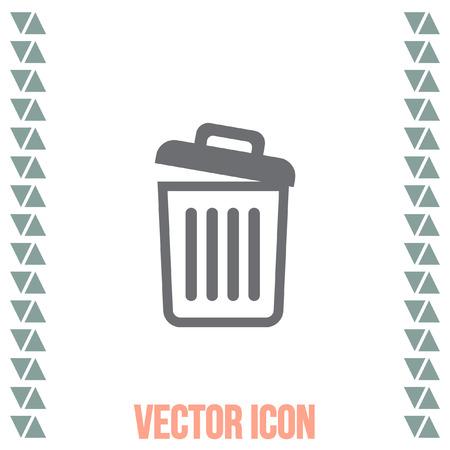 waste basket: Empty recycle bin vector icon. Basket sign. Garbage symbol Illustration