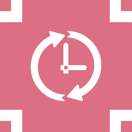 Clock With Arrows Vector Icon Time Shower Sign Ticker Symbol