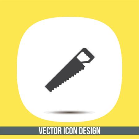 serrucho: Handsaw vector icon. Hacksaw sign. Wood cutting symbol