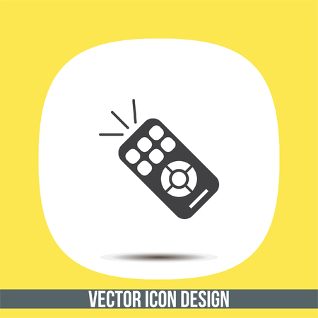 TV remote vector icon. RC controller sign. Television symbol Illustration