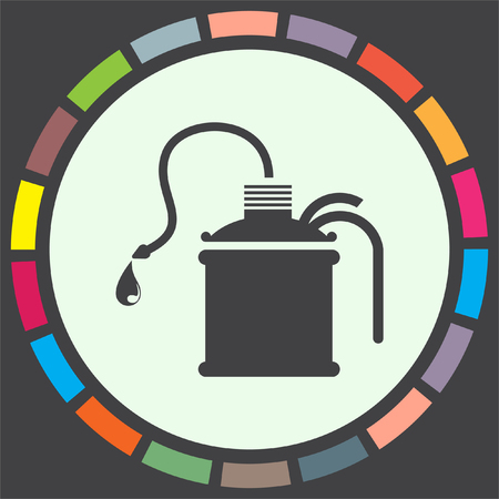 gas can: Oil can vector icon. Gas container sign. Petrol fuel symbol Illustration
