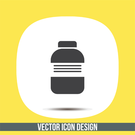 Medical bottle sign vector icon. Pharmacy bottle sign. Medical drugs symbol. Illustration