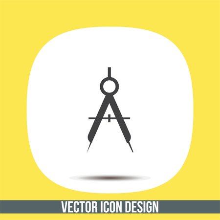 Divider vector icon. Geographic equipment sign. Researchers tool symbol
