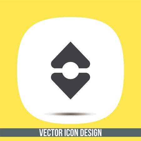 Sort vector icon. Align sign. Arrange symbol Illustration