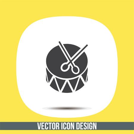Drum vector icon. Tambour sign. Music symbol