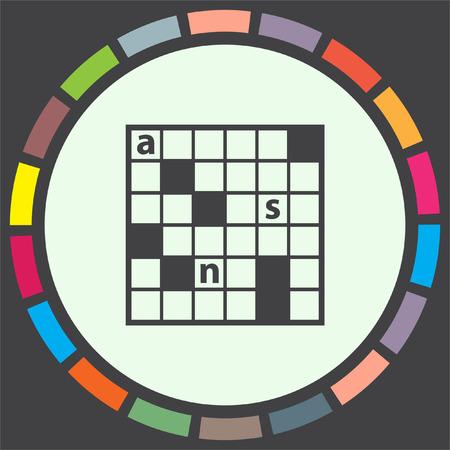 crossword: Crossword Puzzle vector icon. Leisure game symbol. Illustration