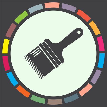 paint tool: Paint brush vector icon. Painting tool sign