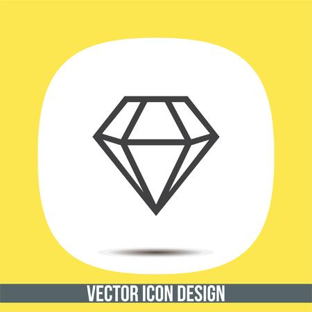 expensive: Diamond vector icon. Expensive jewelry symbol. Luxury symbol. Illustration